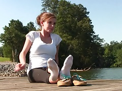 xhamster Amy teases her boat shoes and...