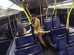 Bus sex with slutty babe and...