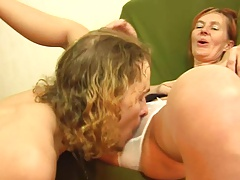 Skinny redhead gets some anal