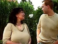 xhamster Garden granny and younger guy 03