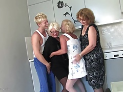 xhamster Grannies and moms fuck boy on...