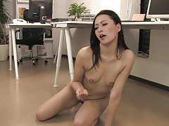 Hot secretary gets pounded by...