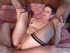 Horny french mature double...