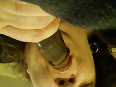 Mature housewife is slave to BBC