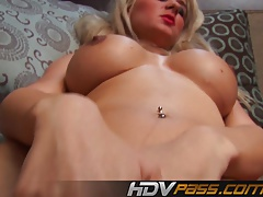 Hotty Blonde Babe Masturbate