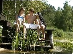 xhamster Idyllic russian threesome by the...