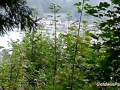 xhamster lederhosen gangbang in nature -...