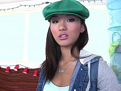 Cute Asian teen Alina Li showing...