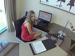 xhamster Lunch break secretary blowjob