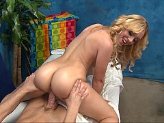 Blonde Lucy massaging with her...