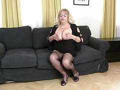 Busty natural mother fucked by...