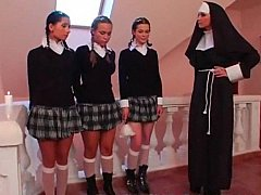 xhamster Three schoolgirls and a Nun