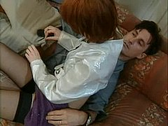 xhamster Redhead in stockings gets it in...
