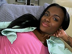 xhamster Sweet 18 year old ebony pussy