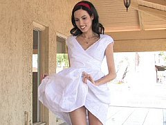 xhamster White Dress