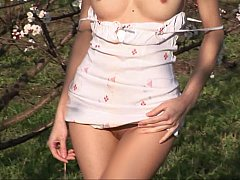 xhamster Russian girl stripping in nature