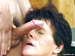 xhamster Grandma loves young cock and facial