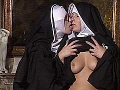 xhamster Lesbian Nuns lick each other