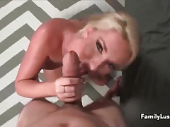 Young man fucks a blonde sexbomb