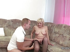 xhamster Grandson Seduce Blonde Granny to...